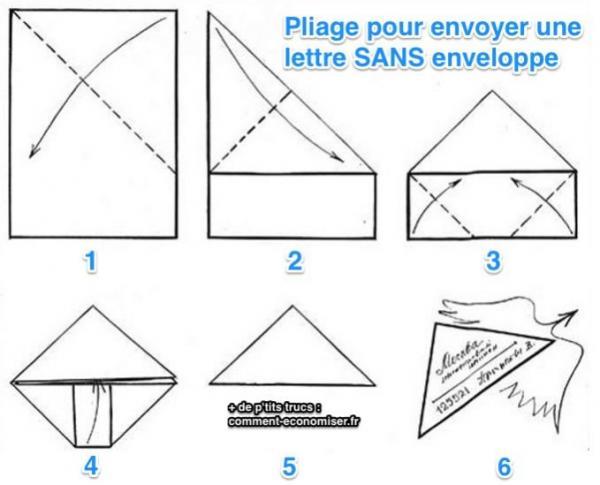 Très L'Astuce Pour Envoyer une Lettre Sans Enveloppe. VP66