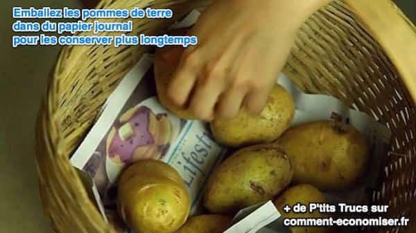 4 fruits et l gumes qui vieillissent mieux avec du papier - Comment conserver des pommes de terre coupees ...