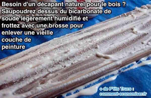 Le bicarbonate est un décapant naturel