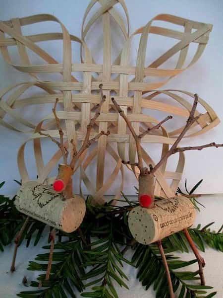 des bouchons en liège recyclés en rennes pour une décor de noël