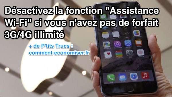 Désactiver fonction Assistance Wi-fi