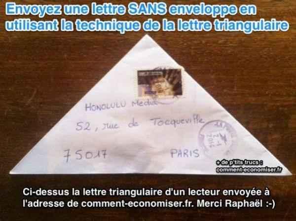 Populaire L'Astuce Pour Envoyer une Lettre Sans Enveloppe. QT48