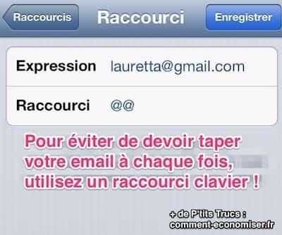 Comment éviter de retaper son email avec les raccourcis clavier