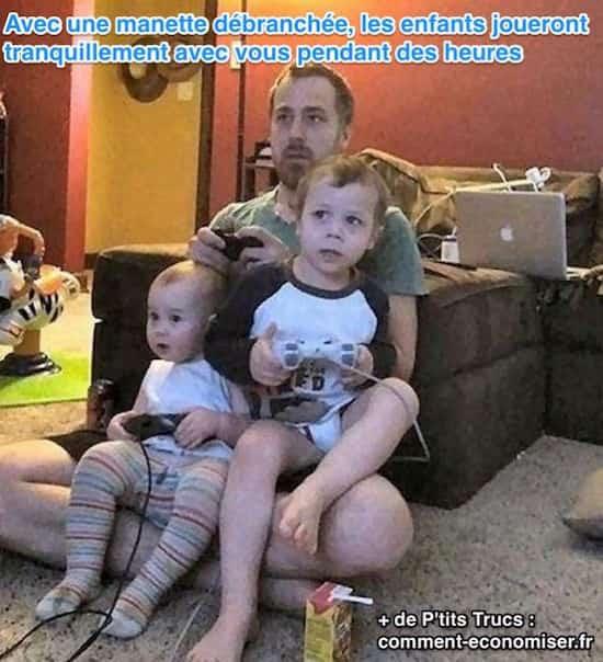une astuce pour jouer aux jeux videos