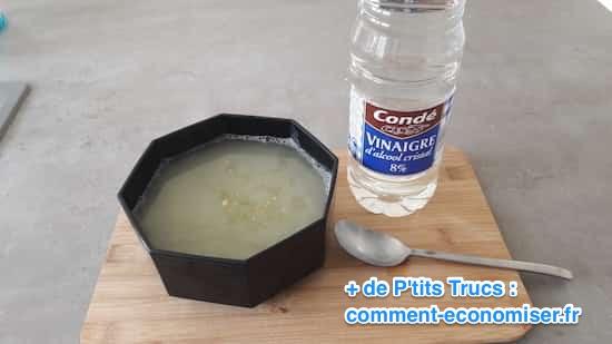 vinaigre blanc avec lessive au savon de marseille