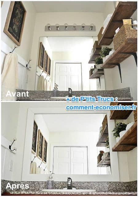 1. Ajoutez Un Cadre Au Miroir De La Salle De Bain