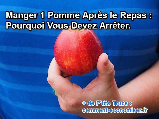 Ne mangez pas de pommes après le repas