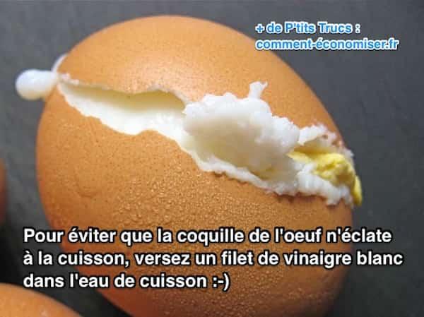 Comment faire cuire un oeuf sans que sa coquille n 39 clate - Cuisson oeuf d oie dur ...