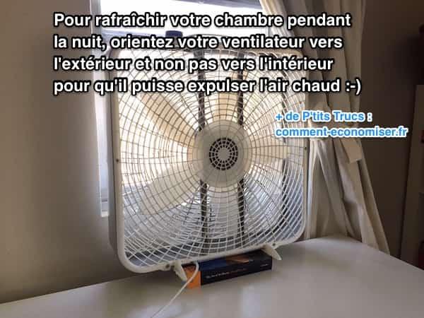Mettez votre ventilateur face à la fenêtre