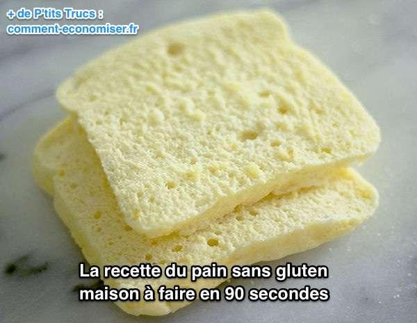 2 tranches de pain de mie sans gluten fait maison