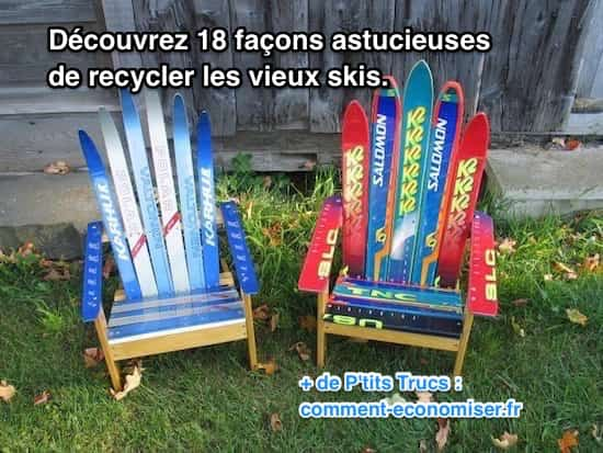 18 Façons Astucieuses De Recycler Les Vieux Skis