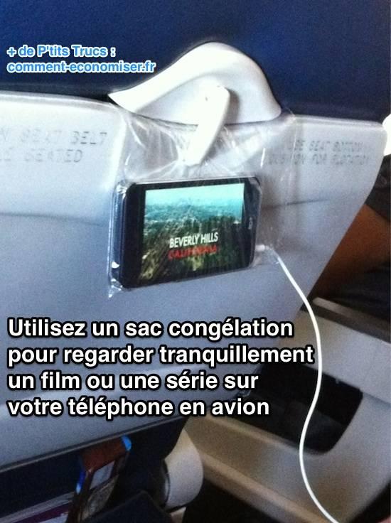 l u0026 39 astuce pour regarder tranquillement un film sur son smartphone en avion