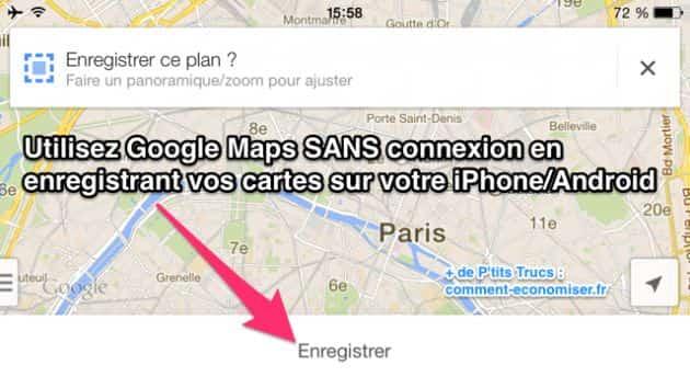 Utiliser google maps comme gps gratuit