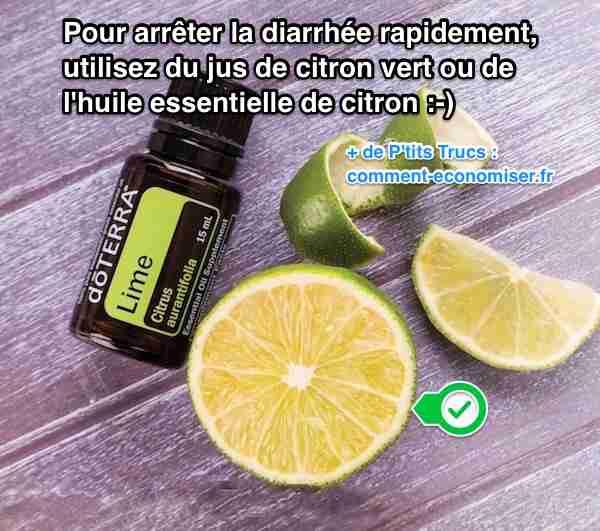 Utiliser de l'huile essentielle de citron pour stopper la diarrhée