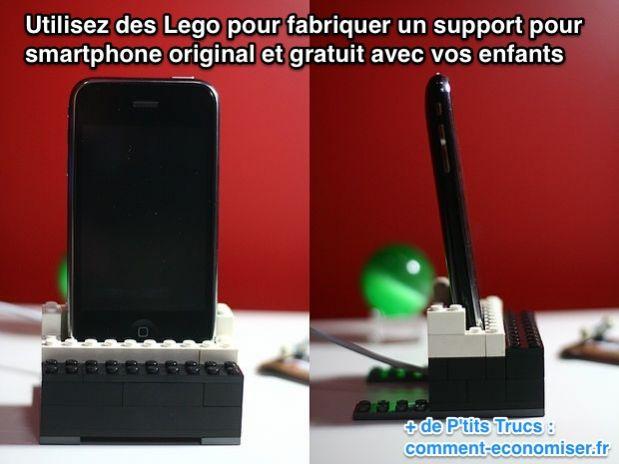 Un dock pour smartphone gratuit et original que vos - Fabriquer un support pour tablette ...