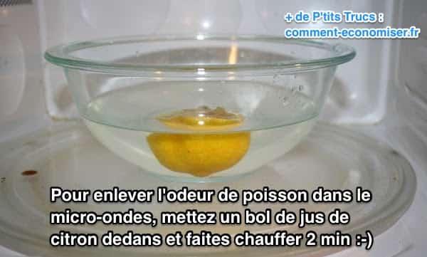 Supprimer les odeurs de poisson dans les micro-ondes avec du citron
