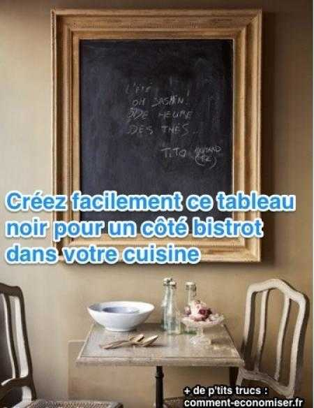 id e d co diy un tableau noir bistrot dans ma cuisine. Black Bedroom Furniture Sets. Home Design Ideas