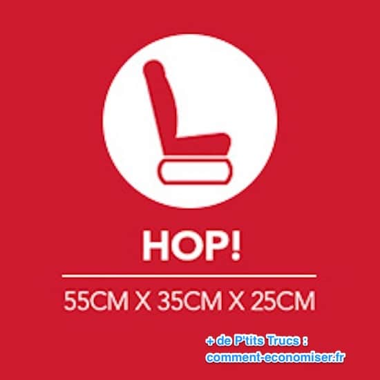 Dimension bagage cabine pour Hop !