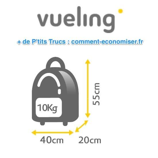 Dimensions bagage cabine sans frais Vueling