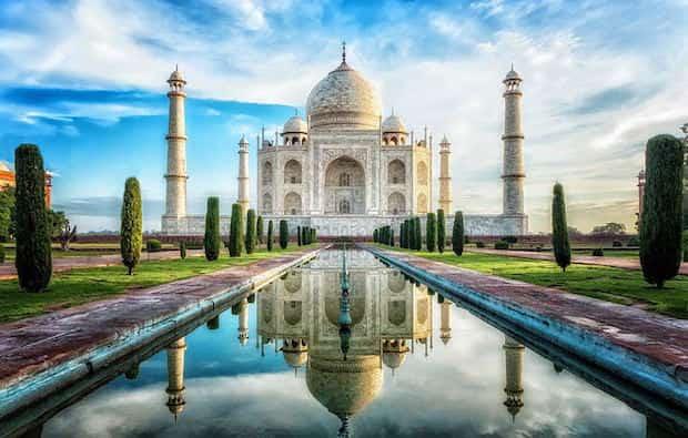 le superbe Taj Mahal en Inde