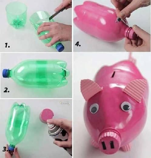 fabriquer tirelire facilement avec bouteille recyclée
