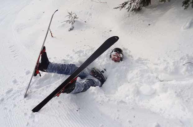 Pas facile d'apprendre à faire du ski à la montagne
