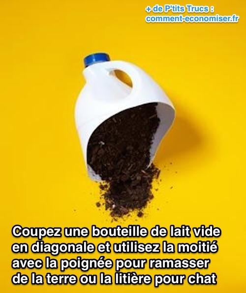 Comment transformer une bouteille en plastique en pelle