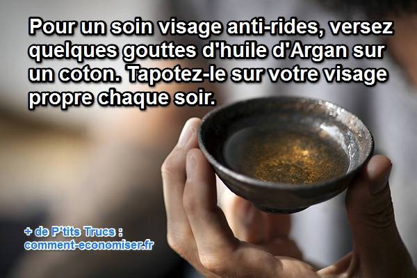 l'huile d'argan est un anti-rides naturel