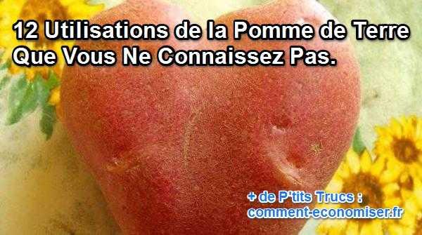 12 utilisations de la pomme de terre dans la maison