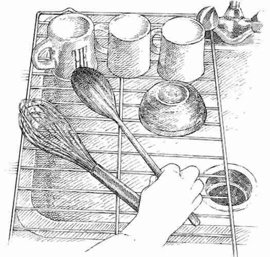 Faites sécher la vaisselle sur une grille du four