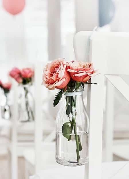 recycler pot verre pour vase mariage