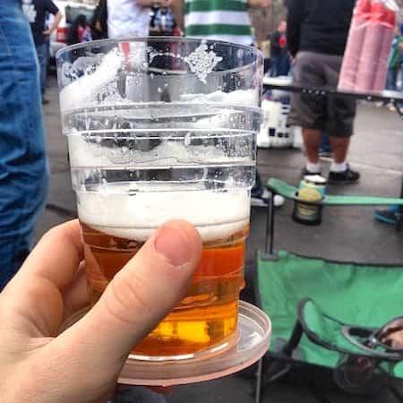 Verre à bière rétractable facile à transporter