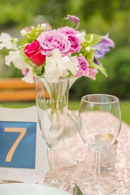 verre gravés pour cérémonie mariage