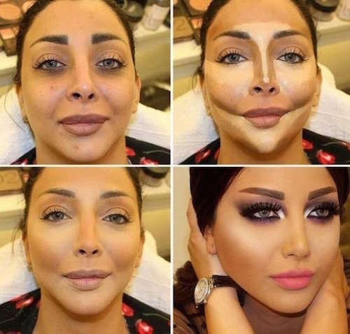 Exemple de maquillage contouring effet mode
