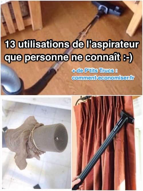 13 utilisations insolites de l'aspirateur
