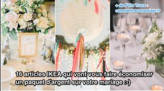 16 articles ikea pour économiser mariage