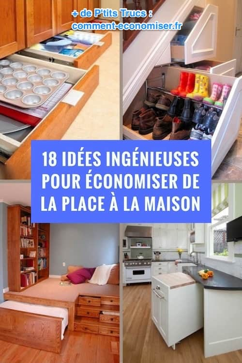18 id es ing nieuses pour conomiser de la place la maison. Black Bedroom Furniture Sets. Home Design Ideas