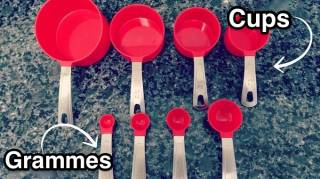 Convertisseur cups en grammes facile