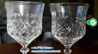 Redonner éclat à vos verres en cristal