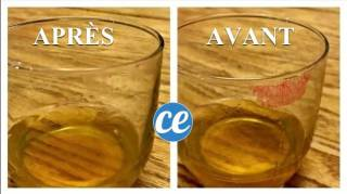 Astuce pour enlever trace de rouge à lèvres sur un verre