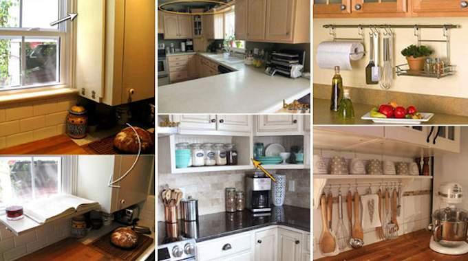 21 astuces g niales pour gagner de la place dans la cuisine. Black Bedroom Furniture Sets. Home Design Ideas