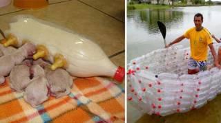 que faire avec bouteilles plastiques recyclées