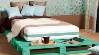 super lit en palette de bois vert
