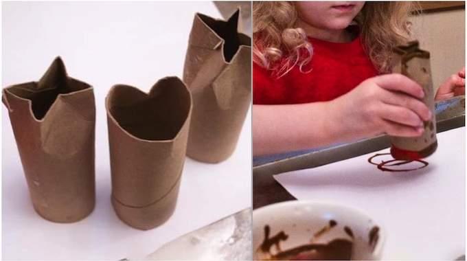pour les enfants comment faire des tampons avec des rouleaux de papier toilette. Black Bedroom Furniture Sets. Home Design Ideas