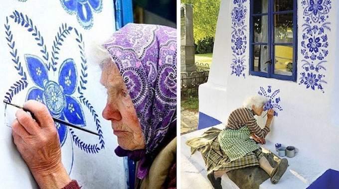 Cette Grand-Mère Tchèque de 90 Ans Transforme son Village en Véritable Galerie d'Art à Ciel Ouvert.