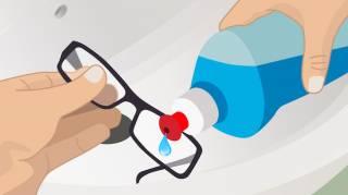 comment bien nettoyer les lunettes de vue
