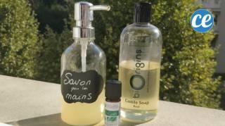 comment faire son savon gel pour les mains naturel et économique