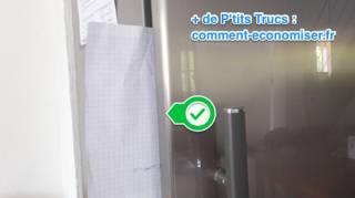 astuce pour verifier etancheite des joints du frigo