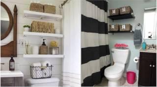 31 Astuces de Rangements Au-dessus des WC facile et pratique