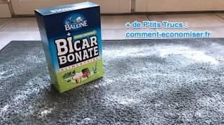 astuce pour nettoyer tapis entree avec du bicarbonate
